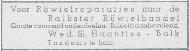 advertentie 1939