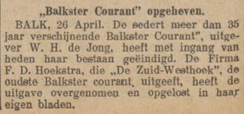 Balkster Courant